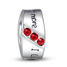Valentines Day Gift for Her I Love You More Cuff Charm Fits Bracelet New #ValentinesBracelet