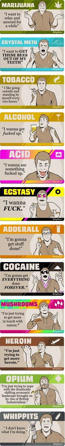 232a25af36a7f What you are saying by your drug choice. Lets Get Drunk