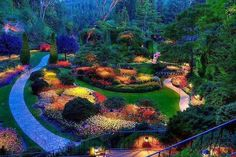 The Butchant Gardens in Brentwood Bay, British Columbia, Canada