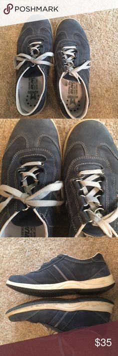 Mephisto Laser Blue Casual Sneakers Pair of blue leather Laser Mephisto's in pretty good condition. Worn on a couple of trips, where walking was necessary, but no more than that. They are structurally in perfect condition, no real wear down. They are a bit dusty from use. Fit true to size and are super comfy. Look really cute on! Make me an offer! Mephisto Shoes Athletic Shoes