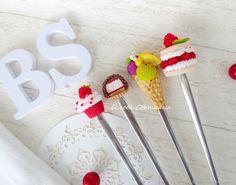 Купить Ложка с декором Вкусные десерты в интернет магазине на Ярмарке Мастеров