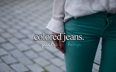 colored jeans #justgirlythings