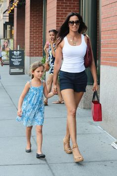 Padma Lakshmi and daughter Krishna Thea Lakshmi-Dell took a walk together.