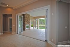 Nana wall - blurring the line between indoor/outdoor living via Fox Signature Homes