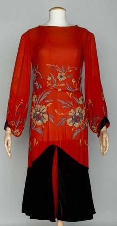 Jean Patou dress, late 1920s