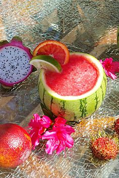 watermelon margarita dragonfruit blood oranges margaritas
