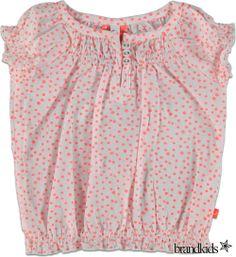Babyface Stip blouse roze - Meisjes Overhemden en Blouses €24,95