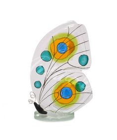 Fused Glass - Butterfly Green Small by Nobile Glassware. Available from Artworx… Fused Glass Jewelry, Fused Glass Art, Mosaic Glass, Glass Beads, Stained Glass, Glass Butterfly, Butterfly Wings, Glass Fusion Ideas, Slumped Glass