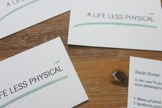 Moo business cards for A Life Less Physical