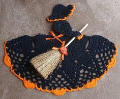 NEW Crochet Halloween Witch Crinoline Doily by DianesCustomCrochet