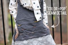 "the ""color pop"" seam technique - see kate sew"