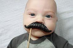 #mustaches + babies = cute!