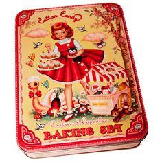Baking set Wu and Wu - Wu & wu, La Sardine à Paillettes Vintage Tins, Vintage Love, Vintage Dolls, Vintage Images, Vintage Stuff, Antique Dolls, Vintage Kitchen, Cotton Candy Cupcakes, Cool Baby Clothes