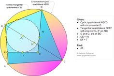 Geometry Problem Cyclic Quadrilateral and Tangential Quadrilateral, Diameter as a Diagonal, Incenter, Circumcenter Geometry Problems, Geometry Formulas, Math Tutor, Education Quotes, Math Education, Middle School Science, Word Families, Lessons For Kids, Quotes For Kids