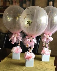 18 New Ideas for baby shower decoracion mesa balloon centerpieces - Baby/Kind - Baby Baby Shower Table Centerpieces, Girl Baby Shower Decorations, Balloon Centerpieces, Baby Shower Themes, Birthday Decorations, Shower Ideas, Elephant Baby Shower Centerpieces, Tutu Table, Communion Decorations