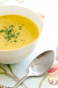 Curry Butternut Squash Coconut Soup-unbelievable. 2 cups of carrots, coconut oil, no chives. Everyone liked