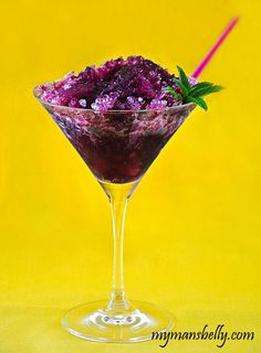 Blueberry Mojito Snow Cone by mymansbelly #Snow_Cone #Blueberry #Mojito
