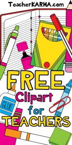 Just about every teacher LOVES clipart and LOVES free stuff! This freebie clipart bundle includes 78 pieces of high School Supplies For Teachers, School Supplies Organization, Teacher Organization, Teacher Tools, Teacher Resources, Teacher Clip Art, Class Teacher, Classroom Supplies, Bathroom Organization