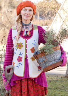 """Mimmi"" waistcoat in felted wool – Cosy winter knits – GUDRUN SJÖDÉN –  Webshop d324a929442c7"