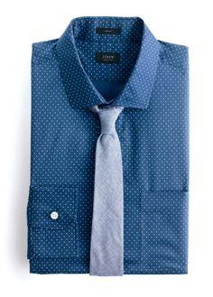 J.Crew Ludlow shirt in dot print.