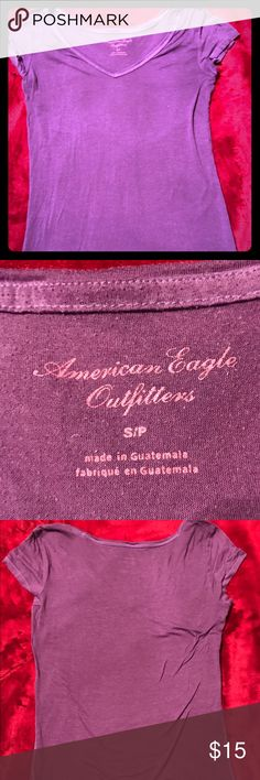 Purple American Eagle T-Shirt Sheer layering t-shirt. American Eagle Brand. Size Small. Thin material. Purple color. American Eagle Outfitters Tops Tees - Short Sleeve