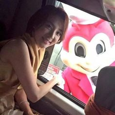 Dara with Jollibee <3 who is cuter?!