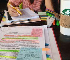 study, studyspo, and coffee image