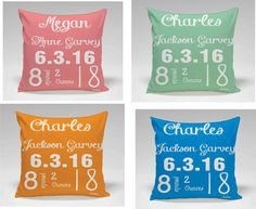 Items similar to Personalized baby birth announcement decor pillow, Baby shower gift, Custom baby gift, Nursery decor, baby on Etsy Personalized Pillow Cases, Personalized Baby, Custom Baby Gifts, Baby Birth, Decorating Your Home, Nursery Decor, Announcement, Baby Shower Gifts, Decorative Pillows