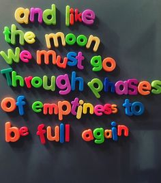 And like the moon, we must go through phases of emptiness to be full again. Mood Quotes, True Quotes, Positive Quotes, Random Quotes, Qoutes, Pretty Words, Beautiful Words, Vie Motivation, Happy Words