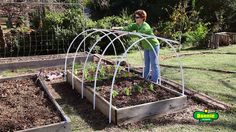 Make a Row Cover Hoop House