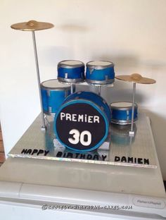 Cool Drum Kit Cake for a Drum Fanatic... Coolest Birthday Cake Ideas
