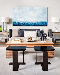 MaryBeth Thielhelm painting in an interior by Thom Filicia