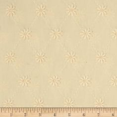 Kaufman Rebecca Embroidered Eyelet Flower Natural from @fabricdotcom  Designed for Robert Kaufman Fabrics, this cotton eyelet fabric  is perfect for blouses, skirts, dresses, heirloom sewing and shirts.