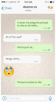 Conversacion whatsapp piropo para ligar Spanish Quotes, Bullshit, Love Quotes, Bird, Sad Love, How To Flirt, Love Book Quotes, Funny Sassy Quotes, True Quotes
