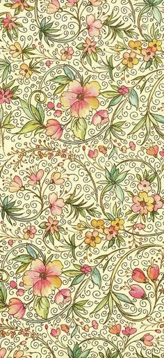 Christmas floral paper form Italy, gilded and printer  friendly