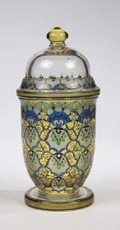 Haida Fachschule (Co.) (Czech)Title:     Deckelvase , ca. 1915  Medium:    enameled glass
