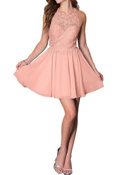 fd44c4167bbb4 Promgirl House Damen Chic Hellblau Rosa Orangerosa A-Linie Spitze  Ballkleider Cocktail Abendkleider Orangerosa
