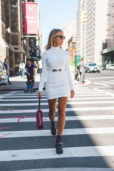 // Pinterest @esib123 // #style #inspo white dress
