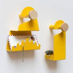 Do Not Disturb Designed by design studio Metal Sheet Design, Sheet Metal Art, Iron Furniture, Furniture Design, Tole Pliée, Nursery Wall Hooks, Metal Art Projects, Steel Art, Plastic Plates