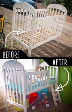 39 Clever DIY Furniture Hacks is part of Toddler loft beds One of the best things about being a creative DIYer is taking something old and making it into something new Perhaps it is no surprise the - Toddler Loft Beds, Toddler Boy Room Ideas, Toddler Rooms, Diy Furniture Hacks, Repurposed Furniture, Furniture Makeover, Antique Furniture, Furniture Storage, Plywood Furniture