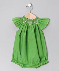 Apple Green Bubble Bodysuit - Infant