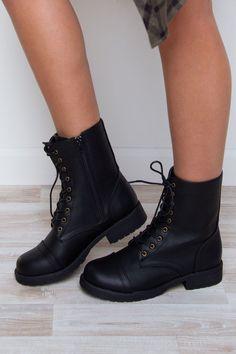 Hi Energy Combat Boots - Black
