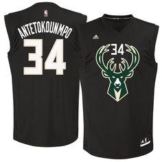 Giannis Antetokounmpo Milwaukee Bucks adidas Fashion Replica Jersey - Black
