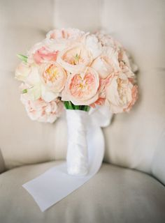 Sorbet hued garden roses: http://www.stylemepretty.com/2015/06/18/the-23-prettiest-garden-rose-bouquets/