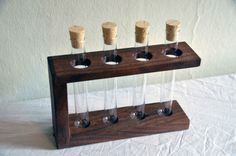 Walnut Test Tube Rack  Perfect for Spices Flowers by ModernStump, Etsy