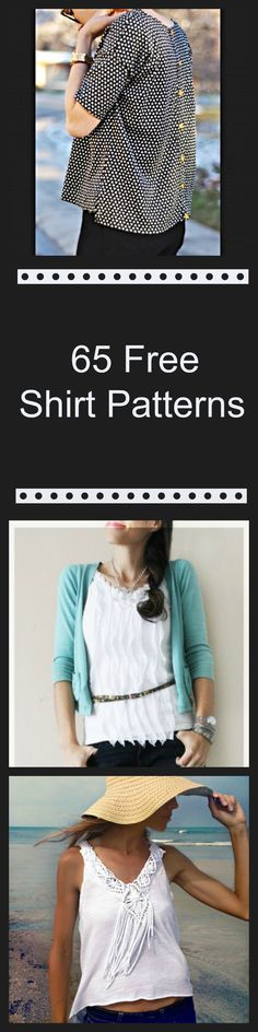 65 Free Shirt Patterns                                                                                                                                                     Más (Diy Shirts Pattern)