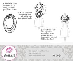 Don't have an infinity scarf? Easily create your own with a regular scarf. Remember to pop into your nearest Blush store for our fabulous scarves instore! Timeline Photos, Infinity, Scarves, Blush, Pop, Store, Create, Scarfs, Infinite