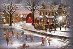 Heart of Christmas Advent Calendar, Medium Fun : Vermont Christmas Company Christmas Scenes, Christmas Past, Christmas Pictures, Winter Christmas, Family Christmas, Snow Scenes, Winter Scenes, Winter Gif, Winter Snow