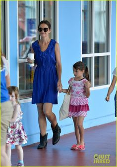 Katie Holmes takes her daughter Suri to Chelsea Piers on July 11, 2013