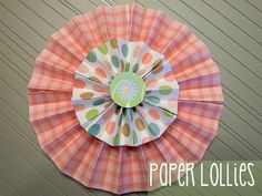 Cute paper craft, fan shaped page etc. this blog is a great one for ideas and info!